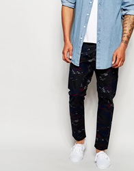 Diesel Jeans Tepphar A Ul Skinny Fit All Over Camo Print Blue