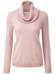 Pure Collection Morgan Cashmere Cowl Neck Jumper Oyster