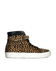 Whistles Cheetah Rigby Hi Top Trainers