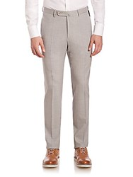 Slowear Wool Extended Tab Trousers Grey