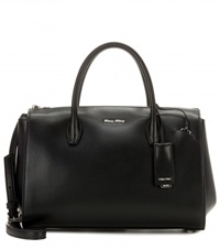 Miu Miu Leather Tote Black