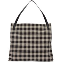 Mansur Gavriel Black And White Oversized Shoulder Hobo Bag