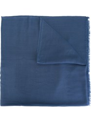 Hope 'Big' Textured Frayed Scarf Blue