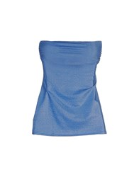 Fisico Cristina Ferrari Topwear Tube Tops Women Bright Blue