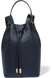 Iris And Ink Ostrich Backpack Blue