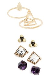Women's Berry 'Eternal Life' Earring And Ring Pack Set Of 5