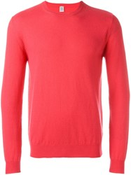 Eleventy Crew Neck Sweater Pink And Purple