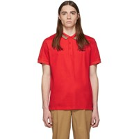 Burberry Red Johnston Polo
