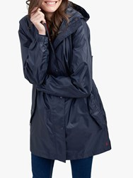 Joules Golightly Pack Away Waterproof Parka Coat Marine Navy
