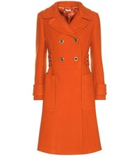 Miu Miu Wool Coat Orange