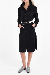 Helmut Lang Women S Cuffed Denim Trench Boutique1 Black