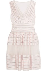 Temperley London Lilith Satin And Tulle Mini Dress Cream