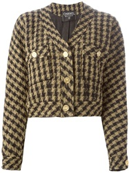 Chanel Vintage Cropped Boucle Jacket Black