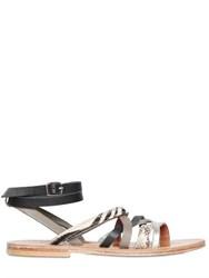 K Jacques St.Tropez Aphrodite Leather And Ponyskin Sandals
