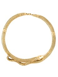 Aurelie Bidermann 'Tao' Snake Necklace Metallic
