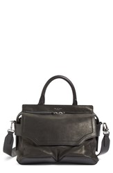 Rag And Bone 'Pilot' Lambskin Leather Satchel Black