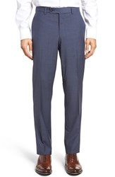 Ted Baker Men's London Flat Front Check Wool Trousers