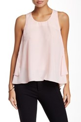 Madison Marcus Layered Back Hi Lo Tank Pink
