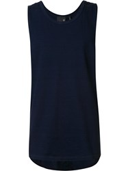 Ag Jeans Plain Tank Top Blue
