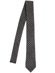 Emporio Armani 5.5Cm Prince Of Wales Wool Jersey Tie