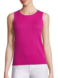 Saks Fifth Avenue Sleeveless Cashmere Shell Pink