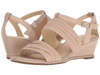 Ecco Rivas 45 Ii Wedge Rose Dust Calf Leather Women's Sandals Beige