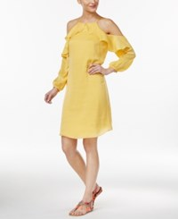 Thalia Sodi Cold Shoulder Halter Dress Only At Macy's Bumble Bee