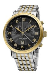 Akribos Xxiv Men's Swiss Collection Chronograph Watch Metallic