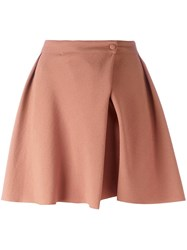 See By Chloe A Line Wrap Shorts Pink And Purple