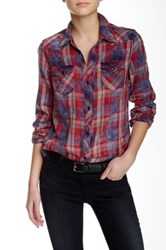 Black Orchid Plaid Button Down Shirt Red