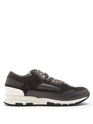 Lanvin Contrast Panelled Low Top Trainers Dark Grey