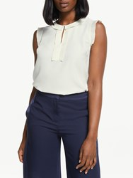 Boden Peggy Pleated Top Ivory