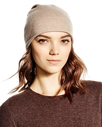 C By Bloomingdale's Cashmere Angelina Slouch Hat Oatmeal