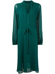 Paul Smith Ps By Longsleeved Sheer Dress Green