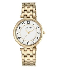 Anne Klein Stainless Steel And Mixed Metal Bracelet Watch Ak2700wtgb Gold
