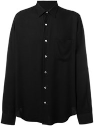 Ami Alexandre Mattiussi Large Fit Shirt Men Viscose 42 Black