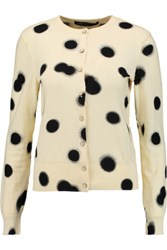 Marc By Marc Jacobs Polka Dot Cotton Cardigan Pastel Yellow