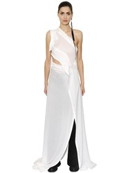 Ann Demeulemeester Cutout Wrap Viscose Crepe Dress