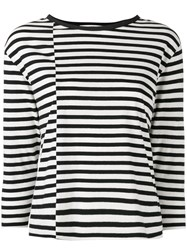 Hope Byronesse Striped Top Women Cotton 42 Black