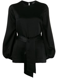 Gianluca Capannolo Belted Blouse Black
