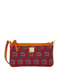 Dooney And Bourke University Of South Carolina Gamecocks Large Slim Wristlet Red
