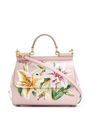 Dolce And Gabbana Floral Tote Bag Pink