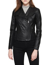 Marc New York Felix Best Seller Asymmetric Zip Leather Moto Jacket Black