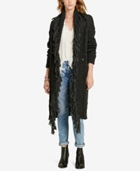 Denim And Supply Ralph Lauren Shawl Boyfriend Cardigan Charcoal Heather