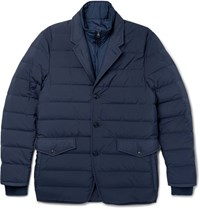 Dunhill Convertible Quilted Shell Down Jacket Navy
