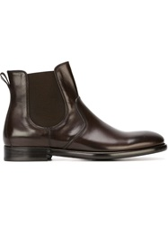 Dolce And Gabbana Classic Chelsea Boots Brown