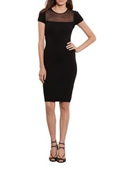 Lauren Ralph Lauren Mesh Panel Sheath Dress Black