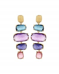 Marco Bicego Murano 18K Four Drop Multi Gemstone Earrings