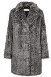 Michael Michael Kors Faux Fur Coat Gray