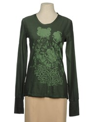 Meltin Pot Topwear Long Sleeve T Shirts Women Dark Green